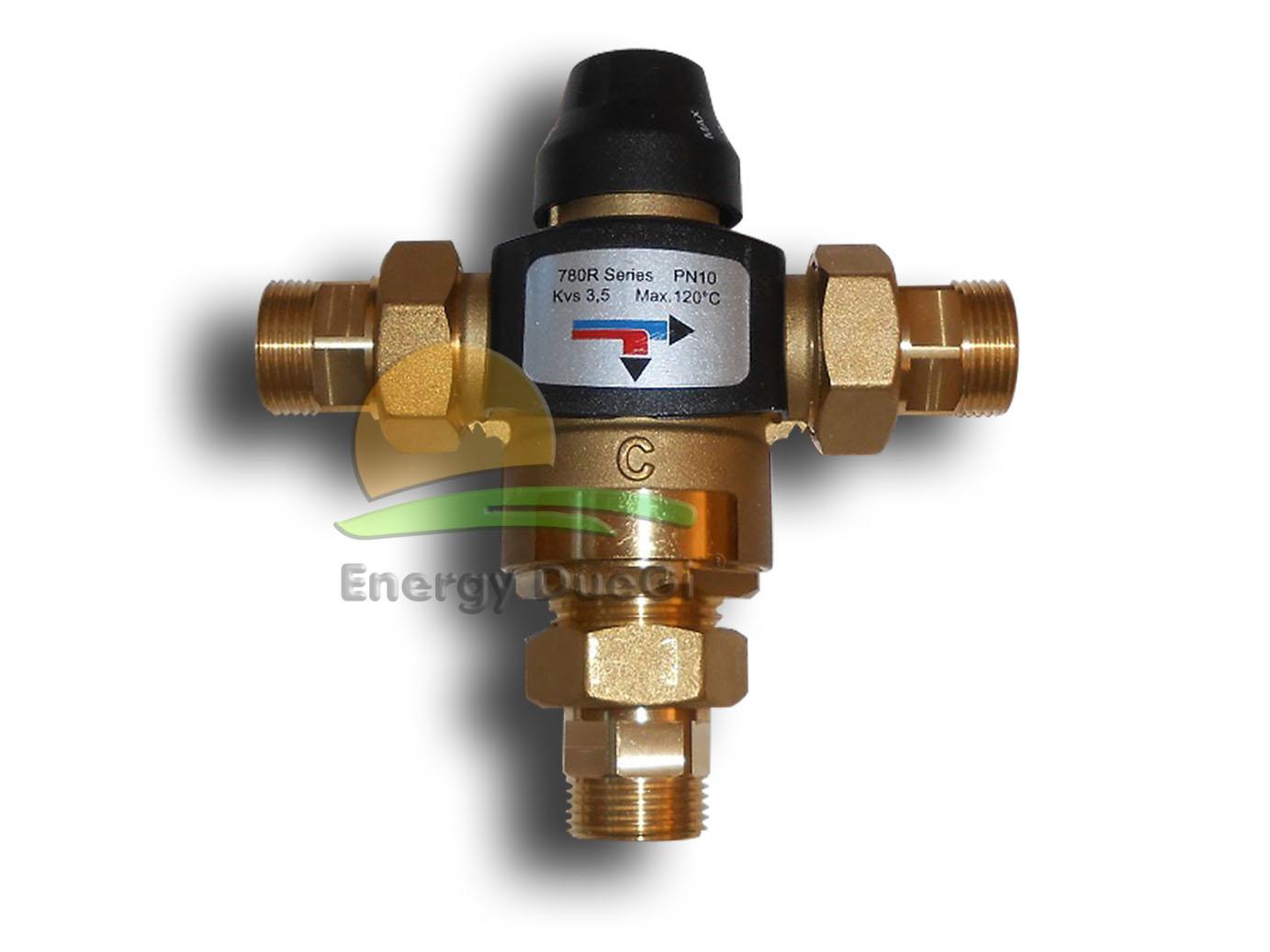 Valvola Miscelatrice Per Pannello Solare : Valvola deviatrice termostatica regolabile raccordi tubi